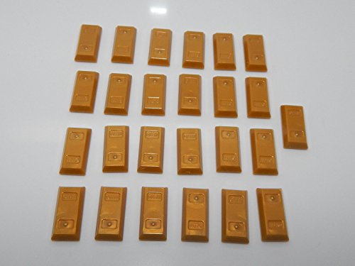 Lego Lot of 25 Utensil Gold Ingot (Bar)