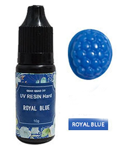 10 Colors Pigment UV Gel Polish Solid Glue For Silicone Resin Mold Jewelry Making (Royal Blue)