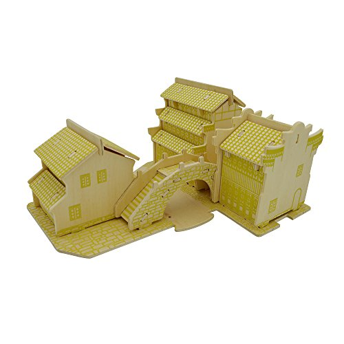 Smilelove 3D Wooden Puzzle- Jiangnan Water Towns C Jigsaw Puzzle