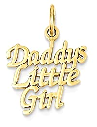 IceCarats 14k Yellow Gold Daddys Little Girl Pendant Charm Necklace