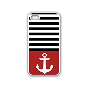 Anchor Black Stripes & Teal White iPhone 5 Case - For iPhone 5/5G - Designer PC Case Verizon AT&T Sprint