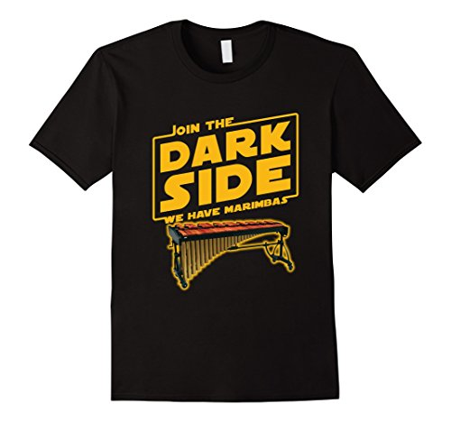 - Mens Join The Dark Side Marimba Player T-shirt Large Black