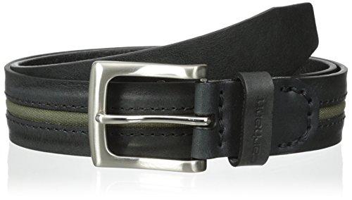Carhartt Men's Canvas Inlay Belt, Black, 42