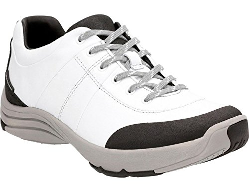 Clarks Womens Wave Andes Sneaker White Leather Size 7.5