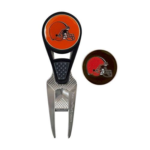 Team Effort NFL Cleveland Browns CVX Ball Mark Repair Tool & 2 Ball Markers