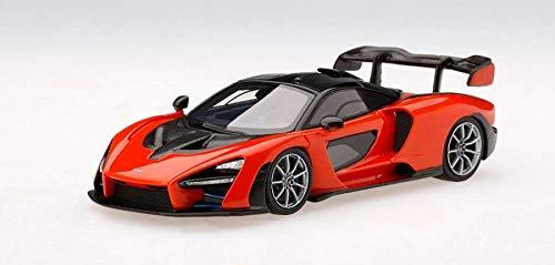 McLaren Senna Mira Orange with Black Top 1/43 Model Car by True Scale Miniatures 430395