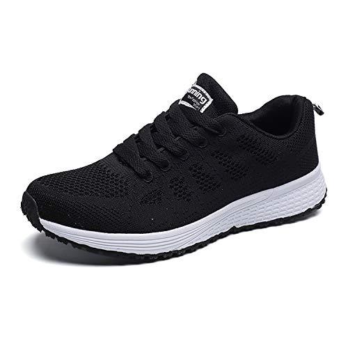 Men QZBAOSHU Sneakers Walking Shoes Lightweight Women Black rrq7dwf