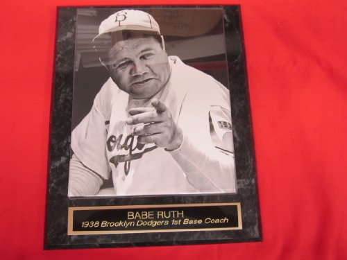 Babe Ruth Brooklyn Dodgers Engraved Collector Plaque #4 w/8x10 RARE -