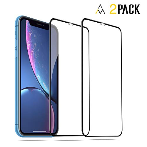 """Astarl (2 Packs) Screen Protector Designed for Apple iPhone XR(6.1""""2018) Full Coverage HD Clarity Tempered Glass Easy Installation Anti Fingerprint"""