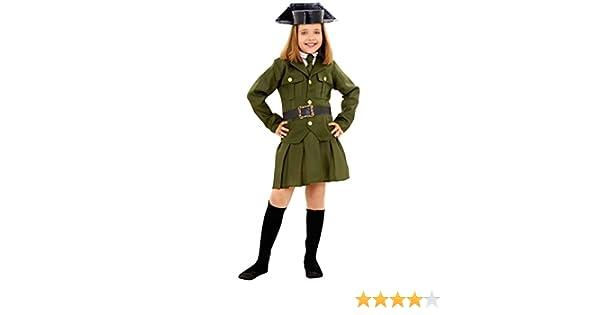 Boys Toys Disfraz de Guardia Civil de Niña (7-9 años): Amazon.es ...