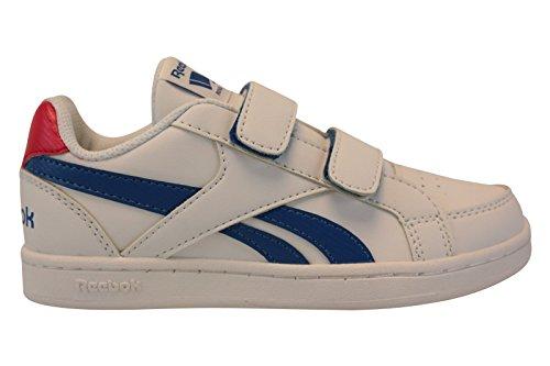Reebok Bd2393, Zapatillas de Deporte Niños Blanco (White / Awesome Blue / Primal Red)