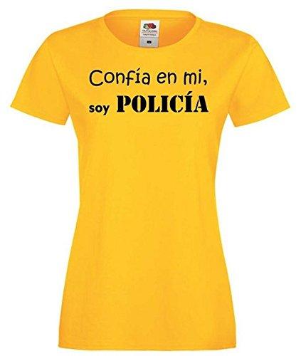 Camisetas divertidas Parent confia EN Mi, Soy Policia - para Mujer Camiseta: Amazon.es: Ropa y accesorios