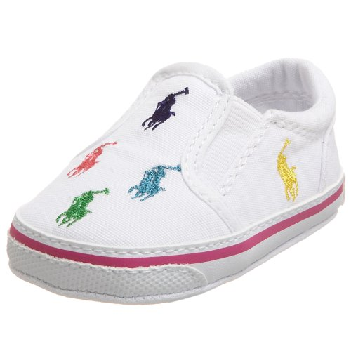 Layette Lauren Baby Ralph - Ralph Lauren Layette Bal Harbour Crib Shoe (Infant/Toddler),White,1 M US Infant