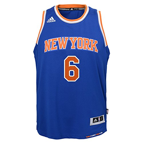 Outerstuff NBA New York Knicks Kristaps Porziņģis Boys Player Swingman Road Jersey, Medium (10-12), - York New Knicks Jersey