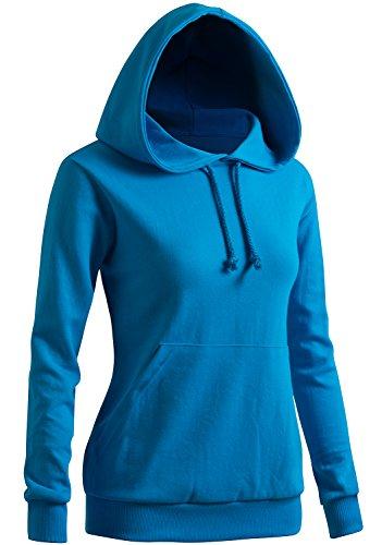 - CLOVERY Women's Two-Tone Casual Raglan Pocket Hoodie Aqua US M/Tag M