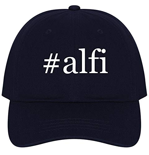 (The Town Butler #alfi - A Nice Comfortable Adjustable Hashtag Dad Hat Cap, Navy)