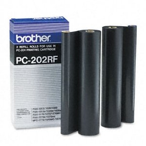 (Brother B-PC202RF Black Refill Rolls for PC-201 - Packs of 2)