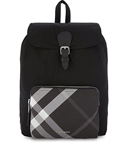 Price comparison product image Burberry Black Nylon Packable Backpack