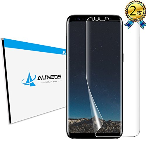 平手打ち大学生手つかずのAUNEOS Galaxy S8 フィルム TPU Samsung Galaxy S8 保護フィルム SC-02J SCV36 ギャラクシー S8 フィルム 曲面 3D 指紋防止 ケースに適用 ソフトフィルム (Galaxy S8, 2枚入り)