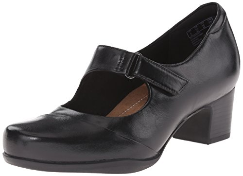 CLARKS Womens Rosalyn Wren Pump Black Leather