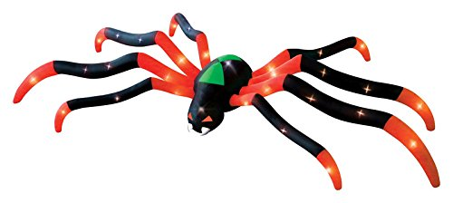 Halloween Inflatable LED Gigantic 20' Spider Airblown Holiday Yard Decoration ()