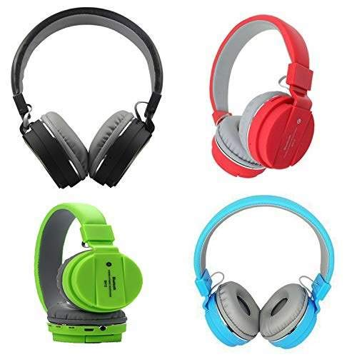 SH-12 Wireless Remote Headphone with HD Sound Quality, SD Card Slots and Calling Control. (Pink)