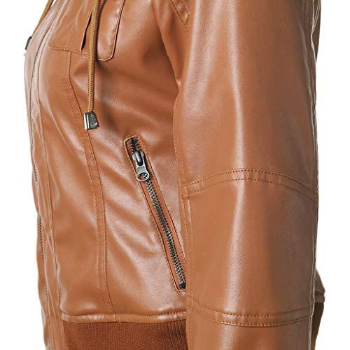Vicgrey In Moto Biker Di Giacchetto Slim Marrone ❤ Giacca Pelle Giubbotto Da Donna Chiodo 4wUn4xrt7q
