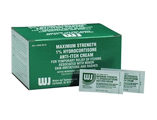 Hydrocortisone Cream, 144/box - Emergency Kit Trauma Kit First Aid Cabinet Refill