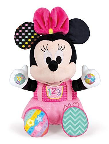 Clementoni - Disney Baby Minnie Gioca e Impara, Peluche parlante, Multicolor, 17304