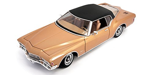 Road Signature 1971 Buick Riviera GS, Brown with Black Roof 92558 - 1/18 Scale Diecast Model Toy Car