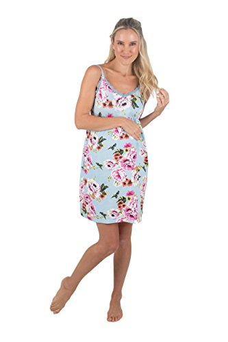 Baby Be Mine Super Soft 2 in 1 Maternity Nursing Nightgown Dress Chemise Maternity Sleepwear