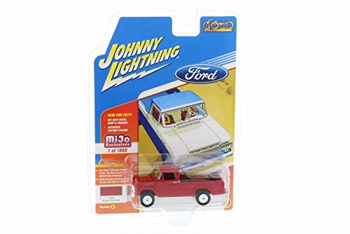 Round 2 1959 Ford F-250 Pick-Up Truck, Red JLCP7004-24 - 1/64 Scale Diecast Model Toy Car