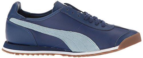 Puma Mens Roma Et 80s Mode Sneaker Twilight Bleu-bleu Brouillard