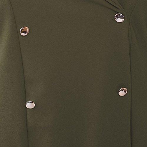 Maniche Maniche Islander a Plain Accento Mini IT 60 Womens Dress Blazer Giacca da Uomo Lunghe Tuxedo Fashions Khaki 46 Colletto 1BIrq1