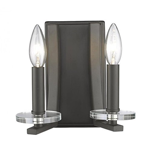 (2-Light Wall Sconce in Brushed Nickel Finish)