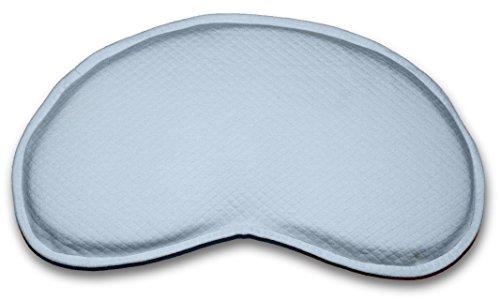 Bonmedico® Guardian Babykissen, gegen Plattkopf und Verformung für eine schöne Kopfform aus viskoelastischem Schaum mit Mulde, 100% schadstofffrei, in Crème, Blau oder Rosa (Blau)