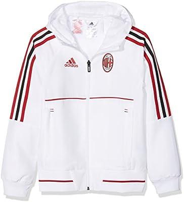 f4d9d24f816 adidas AC Milan Presentation Jacket, Children's, AZ7101,  White/Vicred/Black, 128: Amazon.co.uk: Sports & Outdoors