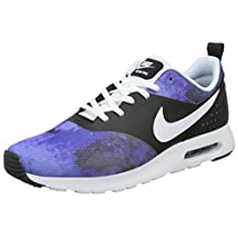 nike air max tavas SD mens trainers 724765 sneakers shoes (uk 8 us 9 eu 42.5, black white persian volt violet ink 004)