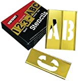 Brass Stencil Letter & Number Sets, Brass, 2 in (5 Pack)