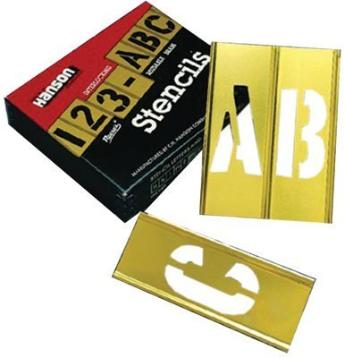 Brass Stencil Letter & Number Sets, Brass, 2 in (6 Pack) by C.H. Hanson
