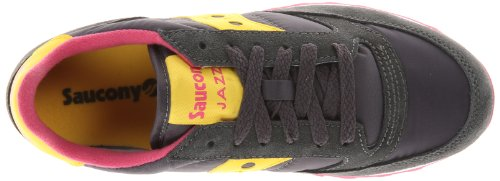 Original Women's Saucony Jazz Originals Yellow Sneaker Charcoal zqU1H