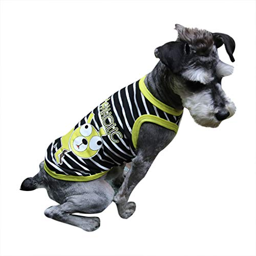 Classic Print Bolster - OUBAO Dog Dresses for Puppy Apparel Pet Costumes Cute Pet Spring and Summer Breathable Dog Print Vest Dog Cat Thin Clothing Black