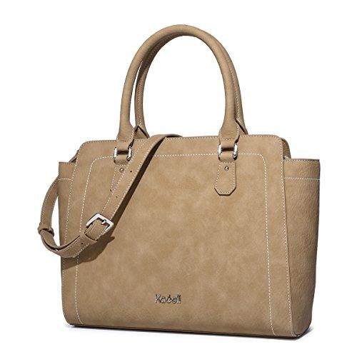 totalizzatore di della della Borse Marrone a signore Grigio delle donne tracolla Kadell borsa progettista borsa leggere delle cerniera borse delle del wYpq10dx