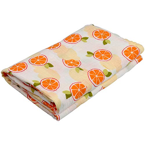 Swaddle Blankets for Baby,100% Cotton Muslin 47 x 47 inch Baby Blankets Cloth Diapers for Wrapping and Swaddling Infants (Orange)