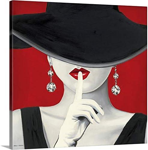 Haute Chapeau Rouge I Canvas Wall Art Print