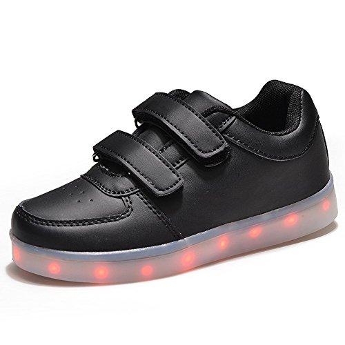 Del La Deporte Usb Led Baile Fiesta Por Zapato Shoes Light Colores For Navidad Kids Carga Luz Zapatilla De Husksware Unisex 7 Up ZdxU66F
