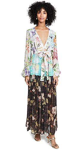 ROCOCO SAND Women's Long Dress, Colorful, Off White, Floral, Small