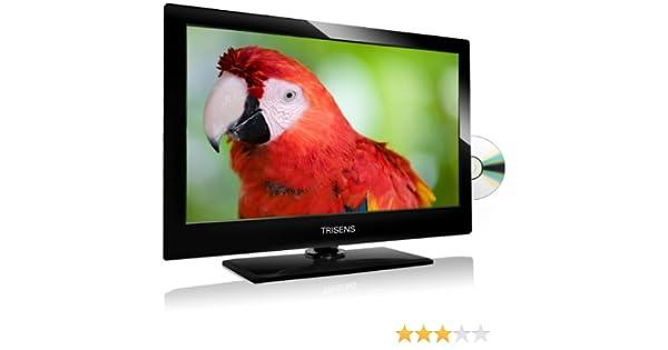 TRISENS tr de 2400 TV Televisor 60 cm/24 pulgadas Full HD LED All in One TV nevera dispositivo Incluye Código Free Reproductor de DVD, USB 2.0 Función de grabación (Grabadora de vídeo