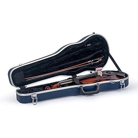 Crossrock CRA800SVFBL ABS Molded Shaped Violin Case, Backpack Style, Blue (Violin Case 4 4 Hard)