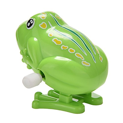 1 Pcs Wind up Jumping Frog Plastic Classic Clockwork Toys Educational Toys Kids Gift (Jumping Frogs)